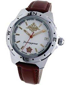 КОМАНДИРСКИЕ Противоударные часы с хромированным корпусом и минеральным стеклом